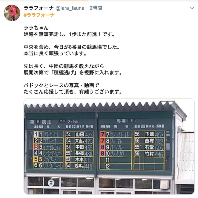 姫路競馬 ララフォーナ